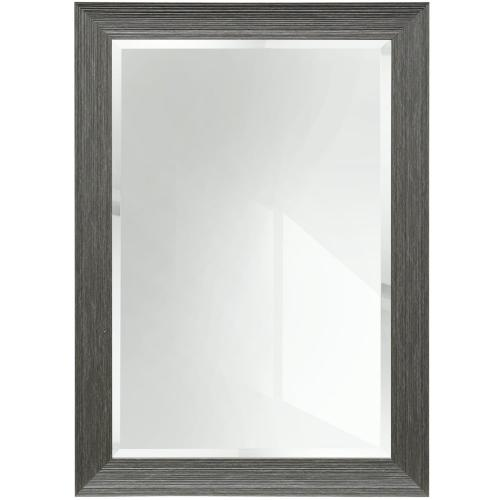 Grey Rectangle Wood Mirror  42in X 30in  Framed Wall Mirror