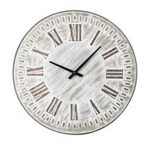 See Details - Whitewash Embossed Wall Clock