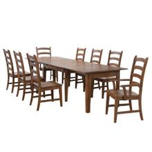 See Details - Rectangular Extendable Table Dining Set - Amish (9 piece)