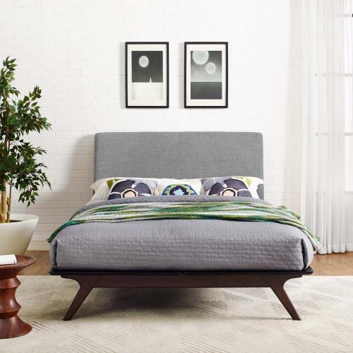 Tracy Queen Bed in Cappuccino Gray