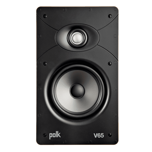 Vanishing V Series High Performance In-Wall Rectangular Speaker in White