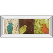 """""""Lovely Birds Il"""" By Patricia Pinto Mirror Framed Print Wall Art"""