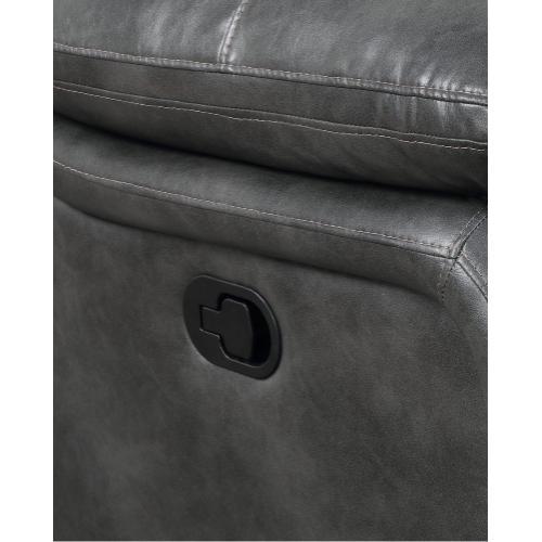 Emerald Home Furnishings - Navaro Gray Swivel Glider Recliner