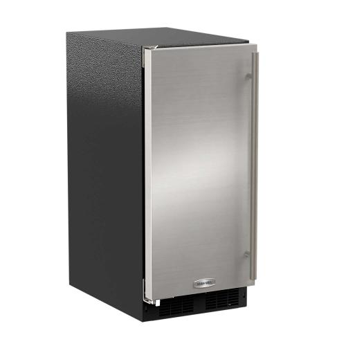 15-In Built-In Clear Ice Machine With Arctic White Illuminice with Door Style - Stainless Steel, Door Swing - Left, Pump - No