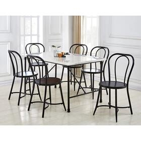 Claire 7 Piece Marble Top Dining(Table & 6 Side Chairs)