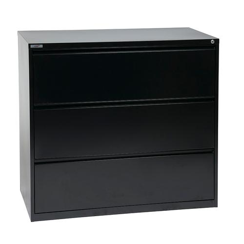 "42"" Wide 3 Drawer Lateral File With Core-removeable Lock & Adjustable Glides"