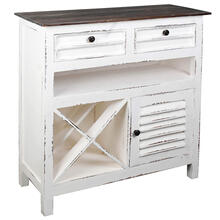 View Product - Wine Server - Distressed White