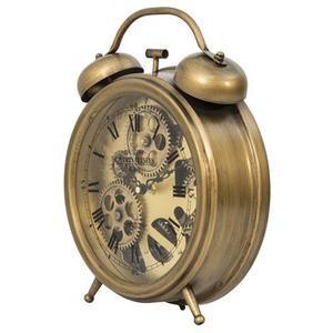Brass Gears Table Top Clock