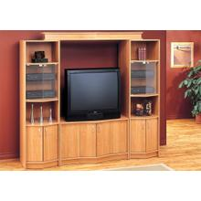 """See Details - TV STAND - MAPLE HOME THEATER TV STAND / 36""""TV"""