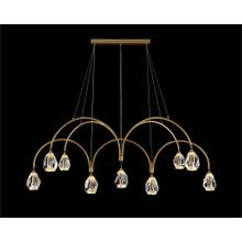 Faceted Cut Crystal Nine-Light Chandelier