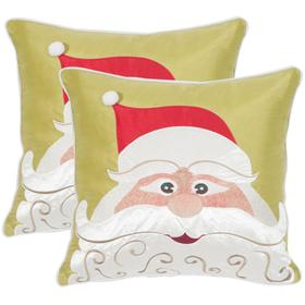 Santa's Cheer Pillow - Red / Green