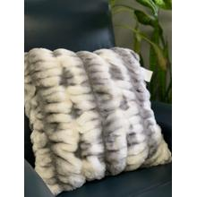 See Details - Nuevo Faux Fur Pillow Gray White by Rug Factory Plus - 20'' X 20'' / Gray White
