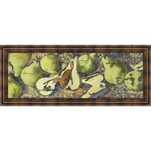 """Sparkling Pears Il"" By Silvia Rutledge Framed Print Wall Art"