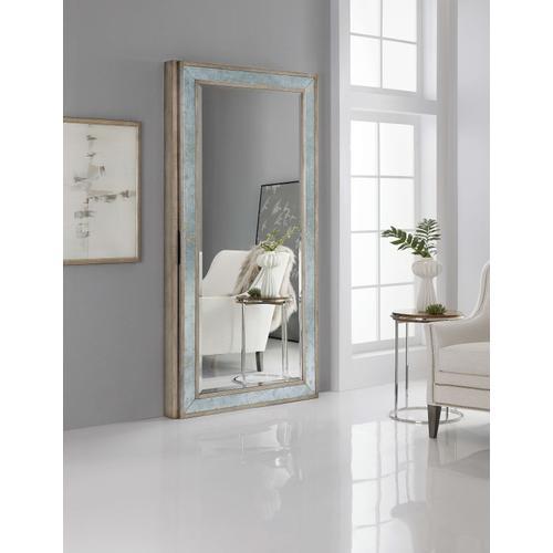 Melange McALister Floor Mirror w/ Jewelry Storage