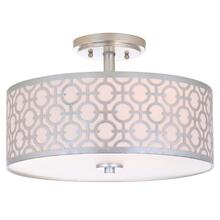 Vera 3 Light 15.5-INCH Dia Silver Flush Mount - Silver