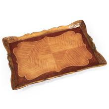 Satinwood Carved Rectangular Tray