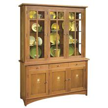 See Details - Oak Harvey Ellis Three-door Buffet