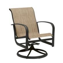 See Details - Fremont Sling Swivel Rocking Dining Armchair