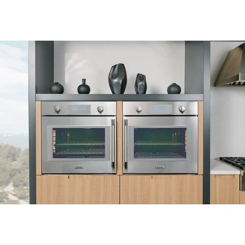 Thermador - Single Wall Oven 30'' Right Side Opening Door, Stainless Steel POD301RW