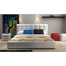 Modrest D531 Modern White Bonded Leather Bed