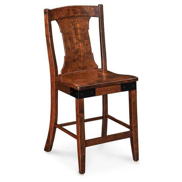 "See Details - Montauk Stationary Barstool, 30"" Seat Height / Fabric Cushion Seat"