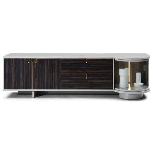Modrest Omega Modern Grey & Ebony TV Stand