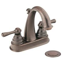 Kingsley oil rubbed bronze two-handle bathroom faucet