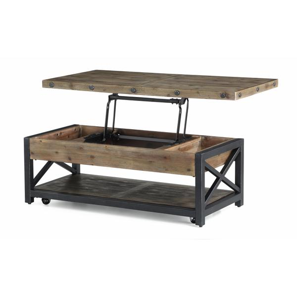 See Details - Carpenter Rectangular Lift-Top Coffee Table with Casters