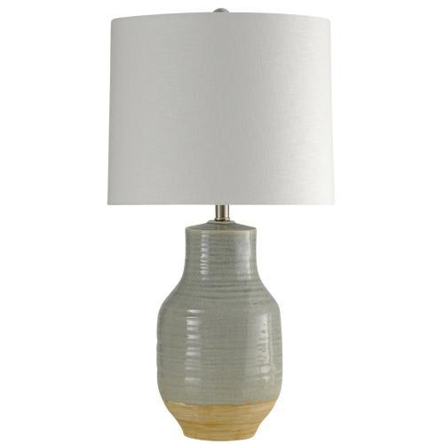 Prova Gray Dipped Ceramic Body Table Lamp with Hardback Shade