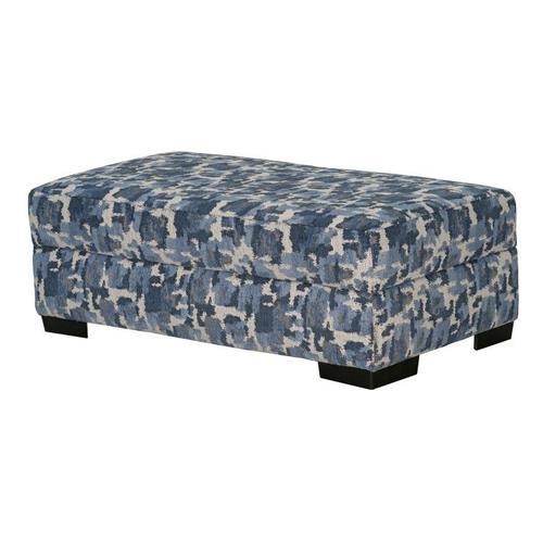 Romano Upholstered Storage Ottoman, Flax