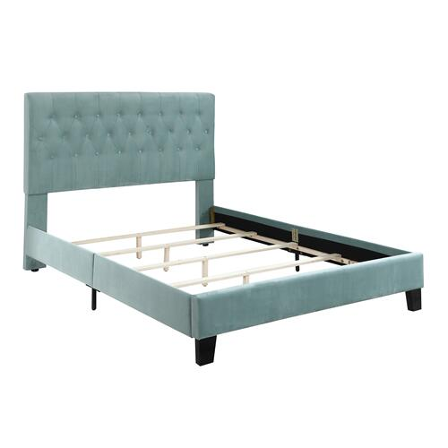 Emerald Home Amelia Upholstered Bed Kit Full Light Blue B128-09hbfbr-24
