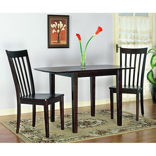 Gallery - Chocolate Brown 3pc Dinette
