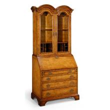 Queen Anne bureau cabinet with glass doors