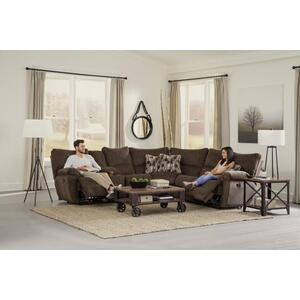 Lay Flat Reclining Sectional - Chocolate