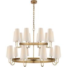 Visual Comfort CHC1620AB-L E. F. Chapman Venini 20 Light 46 inch Antique-Burnished Brass Chandelier Ceiling Light, Large