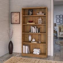 Universal Bookcases 5 Shelf Bookcase - Vintage Golden Pine