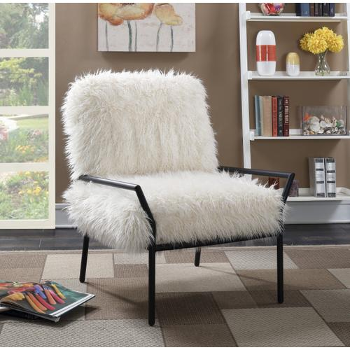 Royal Accent Chair, Off White U3518-05-09a