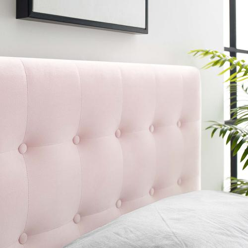 Modway - Emily Twin Biscuit Tufted Performance Velvet Headboard in Pink