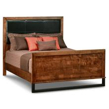 """See Details - Cumberland Double Bed With Leather Headboard & 31"""" High Footboard"""