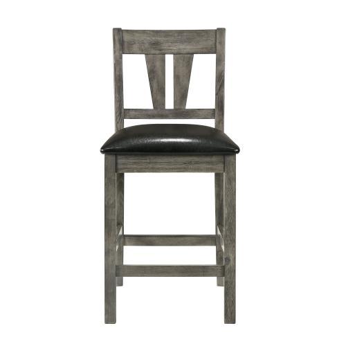 Nathan Counter Side Chair w/PU Seat & Fan Back Slat (2 Per Pack)