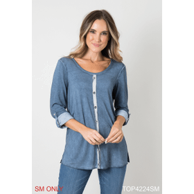 Perfectly Plaid Down the Line Grommet Top - S/M (4 pc. ppk.)