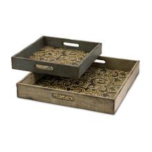 Product Image - Corinne Square Wooden Serving Trays - Set of 2