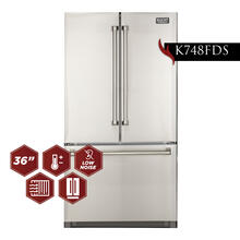 26.1 Cu. Ft. 36-Width Standard Depth French Door Refrigerator with Interior Ice Maker