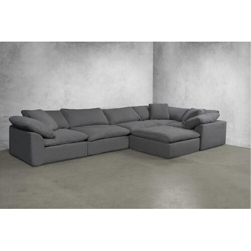 Cloud Puff Slipcovered Modular Sectional Sofa - 391094 (6 Piece)