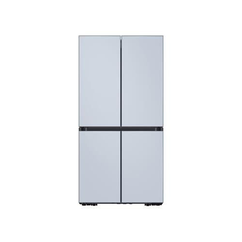29 cu. ft. Smart BESPOKE 4-Door Flex™ Refrigerator with Customizable Panel Colors in Sky Blue Glass