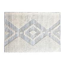 Bewick I 96 x 120 White/Gray Pattern Woven Rug