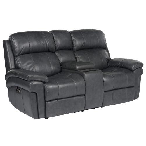 Product Image - Luxe Leather Power Reclining Loveseat with Articulating Headrest & Console