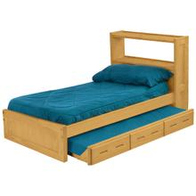 Bookcase Bed Set, Double, extra-long