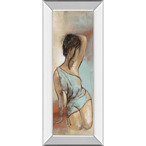 "Classy Art - ""Seated Woman Panel Il"" By Lannie Loreth Mirror Framed Print Wall Art"