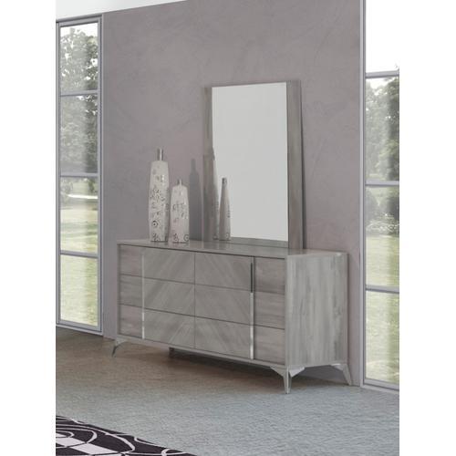 Nova Domus Alexa Italian Modern Grey Dresser